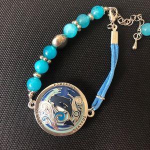 Aquatic Whale Sea Blue Bracelet
